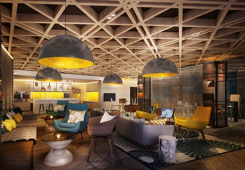 Design Scope Includes Lobby Bar, Executive Lounge, Spa Area, Rooftop Lounge  Incl. Bar Area And One Specialty Restaurant.